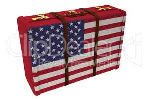 USA flag suitcase