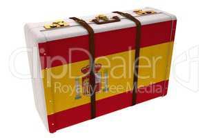 Spain flag suitcase
