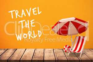 Composite image of travel the world