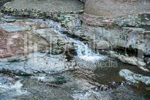 Image of creek between stones. Tbilisi, Georgia