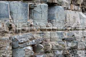 Image of ruins in rock. Tbilisi, Georgia