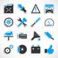 Car Service Icons - Blue