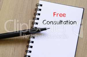 Free consultation write on notebook