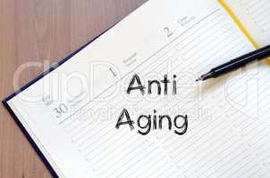 Anti aging write on notebook