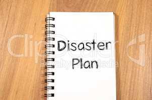 Disaster plan text concept