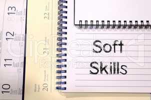 Soft skills text concept