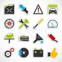 Car Service Icons -  color