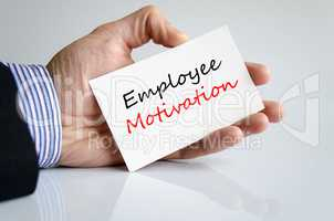 Employee motivation text concept