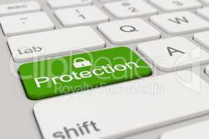 keyboard - protection - green