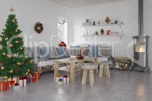 3d - livingroom - christmas