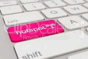 keyboard - hotspot - magenta