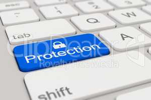 keyboard - protection - blue