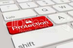 keyboard - protection - red
