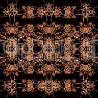 Dark Ornate Abstract Seamless Pattern