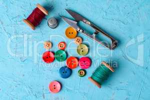 Colorful plastic buttons