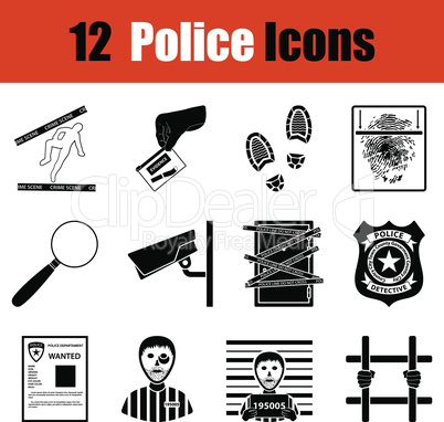 Set of police icons