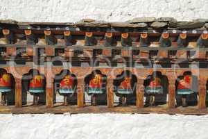 Paintings on Kyichu Lhakhang, Bhutan