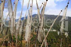 Buddhist Prayer Flags - Kingdom of Bhutan