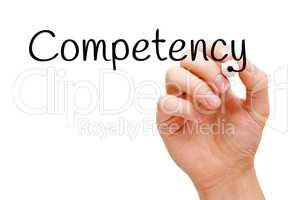 Competency Hand Black Marker