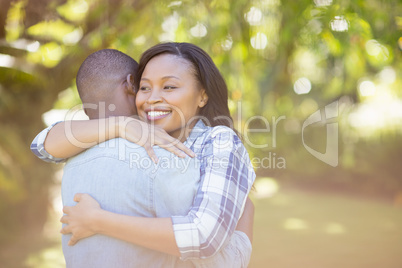 Happy couple having hug