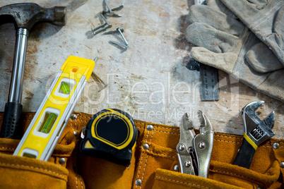 Zoom of carpenters tools