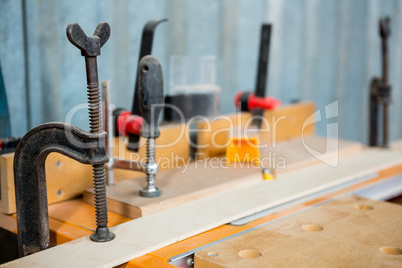 Zoom of carpenters tools