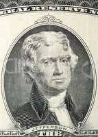 President of Jefferson in Anniversary two US dollars 1976