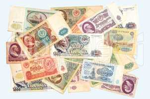 Historic banknotes Soviet Union rubles, 1961