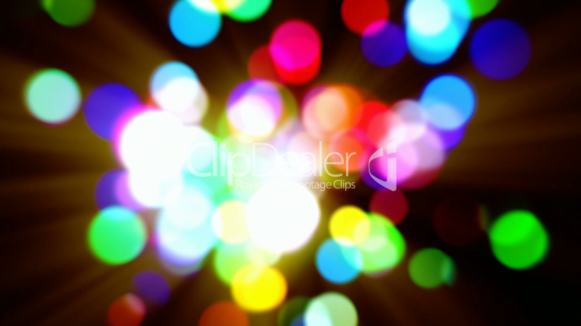 Abstract multicolored bokeh lights defocused motion background