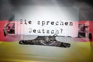 Composite image of sie sprechen deutsch