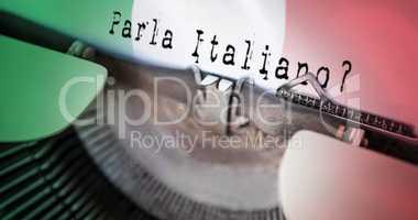 Composite image of parla italiano