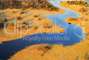 Luftbild Landschaft in Afrika Namibia