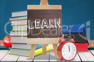 Composite image of learn word