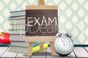 Composite image of exam word