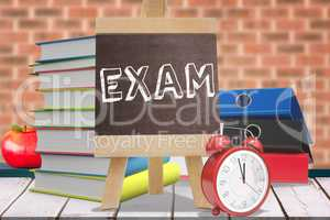 Composite image of words exam