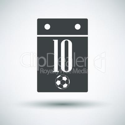 Soccer calendar icon
