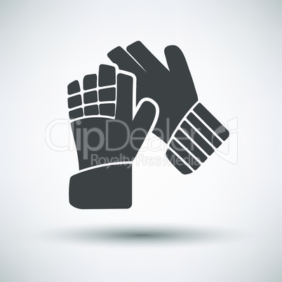 Soccer goalkeeper gloves icon