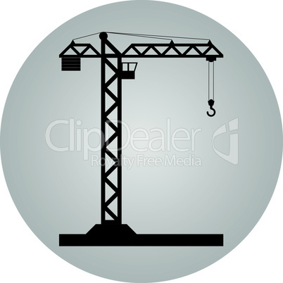 Tower crane - Vector icon isolated