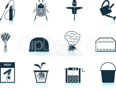 Set of gardening icons