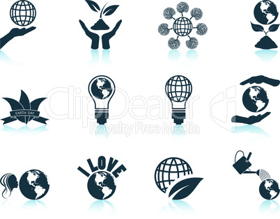 Set of Earth day icons