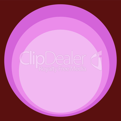 Red pink circle retro background art Nouveau