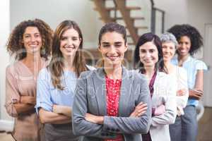 Group of interior designer standing with arms crossed