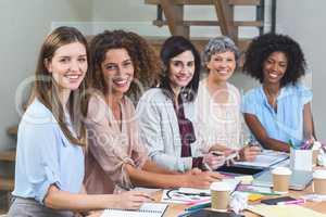 Portrait of interior designers smiling