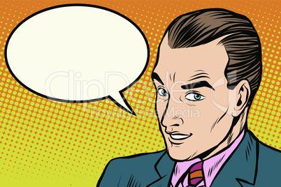 businessman says comic book bubble