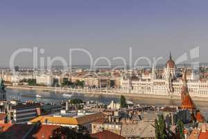 View from the Fishermen's Bastion in Budapest Hungary