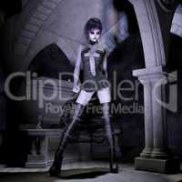 3D Illustration; 3D Rendering of a gothic Female