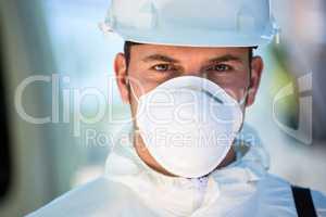 Close-up of pest control man