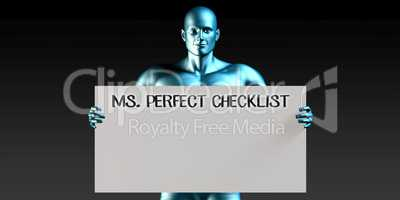 Miss Perfect Checklist