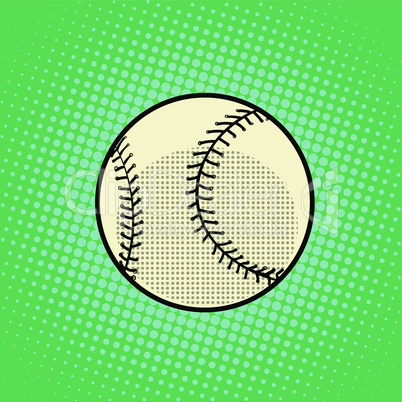 Baseball Ball pop art retro style