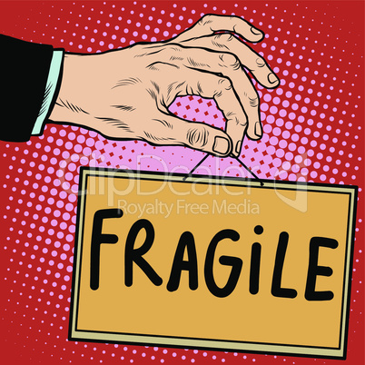 Hand sign fragile